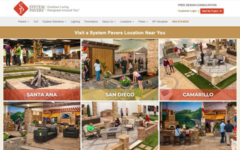 Screenshot of Locations Page systempavers.com - System Pavers Open House Events - captured Oct. 18, 2018