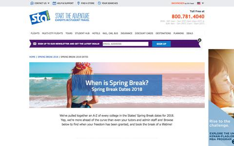 When is Spring Break? | STA Travel