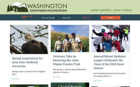 Screenshot of Press Page waparks.org - News   Washington State Parks Foundation - captured July 3, 2018