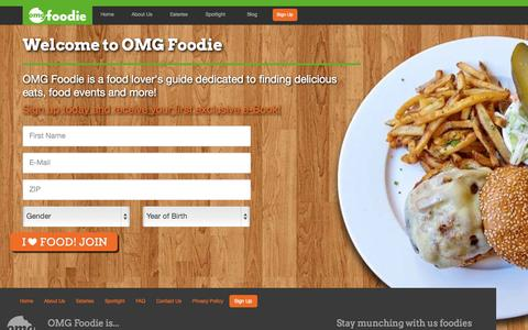 Screenshot of Signup Page omgfoodie.com - OMG Foodie | Sign Up - captured Oct. 7, 2014