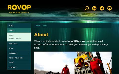 Screenshot of About Page rovop.com - ROVOP - About - captured Sept. 17, 2014