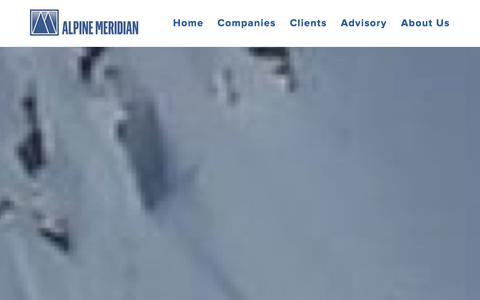 Screenshot of Home Page alpinemeridian.com - Alpine Meridian - captured Oct. 4, 2014