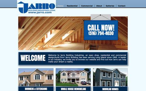 Screenshot of Home Page jarro.com - Jarro Building Industries | Long Island General Contractors - captured Oct. 16, 2017