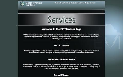 Screenshot of Services Page ev-institute.com - EVI Services - captured Oct. 2, 2014