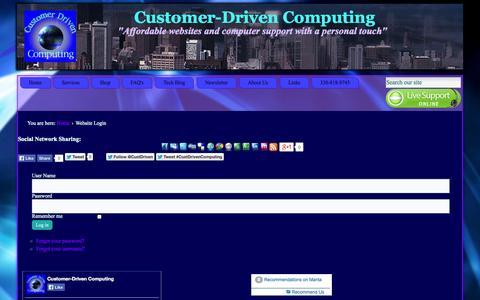 Screenshot of Login Page customerdrivencomputing.net - Customer-Driven Computing - Website Login - captured Sept. 30, 2014