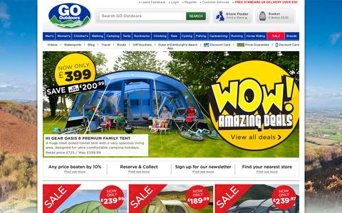 Screenshot of Home Page gooutdoors.co.uk - GO Outdoors | Outdoor Clothing | Walking Boots | Winter Jackets - captured July 17, 2014