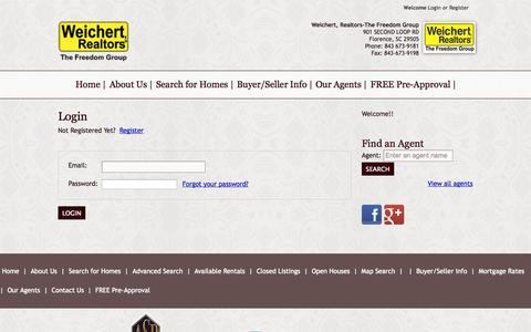 Screenshot of Login Page wrthefreedomgroup.com - Weichert Realtors The Freedom Group - User Login - captured Oct. 26, 2014