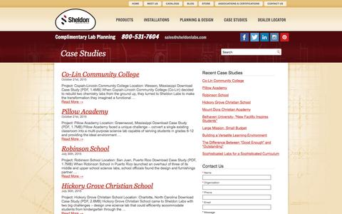 Screenshot of Case Studies Page sheldonlabs.com - Case Study | Sheldon Labs - captured Nov. 29, 2016
