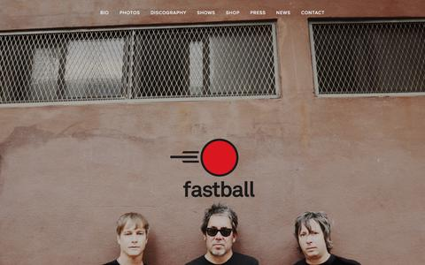 Screenshot of Home Page fastballtheband.com - Fastball The Band - captured March 10, 2016