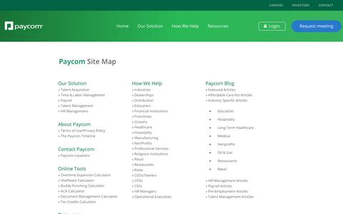 Site Map | Paycom®