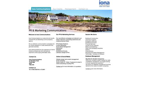Screenshot of Home Page ionacommunications.com - Iona Communications - ionacommunications.com - captured Oct. 12, 2018