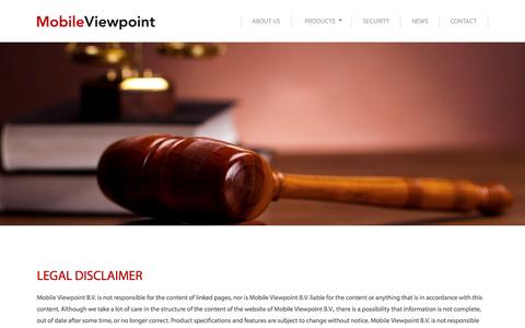 Screenshot of Terms Page mobileviewpoint.com - Mobile Viewpoint | Legal Disclaimer - captured Oct. 26, 2014