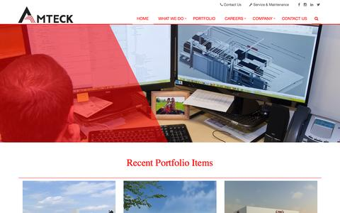 Screenshot of Home Page amteck.com - Amteck Electrical Communication Design Build Contractor - captured Nov. 20, 2016