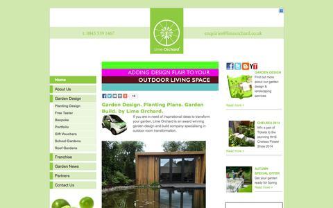 Screenshot of Home Page limeorchard.co.uk - Lime Orchard - National garden design and build advice franchise - captured Sept. 30, 2014