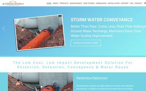 Screenshot of Home Page stormchambers.com - Stormwater Management | StormChambers - captured Dec. 16, 2016