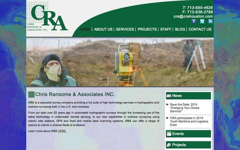Screenshot of Home Page crahouston.com - CRA Houston   Surveys - captured Oct. 2, 2014