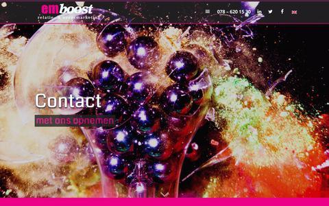 Screenshot of Contact Page emboost.nl - Contactgegevens van EMboost B.V. - captured July 10, 2017