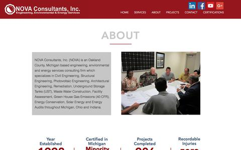 Screenshot of About Page novaconsultants.com - About NOVA Consultants - captured Oct. 22, 2017