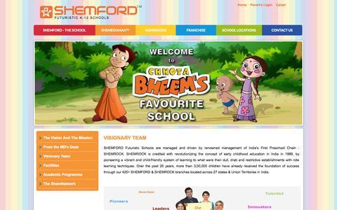 Screenshot of Team Page shemford.com - SHEMFORD School: Senior Secondary School Planning and Management - captured Sept. 23, 2014