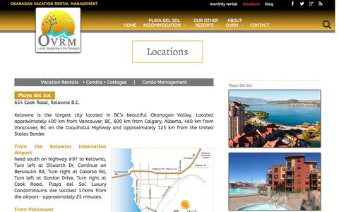 Screenshot of Locations Page ovrm.ca - Locations – OVRM - captured Jan. 26, 2017