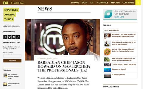 Screenshot of Press Page eatthecaribbean.com - News | EAT The Caribbean - captured Dec. 7, 2015