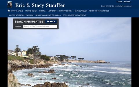 Screenshot of Home Page ericstauffer.com - Pacific Grove Real Estate, Pebble Beach Real Estate, Monterey Real Estate, Carmel Real Estate, Information, Links And Home Search - captured Oct. 3, 2014