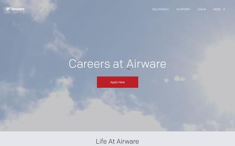 Screenshot of Jobs Page airware.com - Careers | Airware - captured July 9, 2016