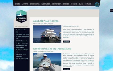 Screenshot of Blog flyfishingtherun.com - Blog Fishing - Fly Fishing The Run - captured Sept. 30, 2014