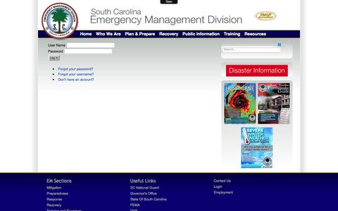 Screenshot of Login Page scemd.org - Login - captured Feb. 26, 2016