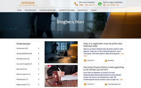 Screenshot of Blog omnius.nl - Omnius Blog - Juridische blog door Advocaten | Omnius Advocaten - captured July 5, 2017