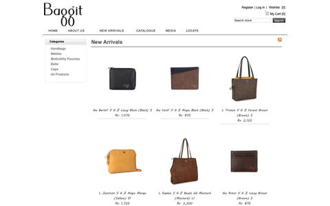 Screenshot of Products Page baggit.com - Recently Added Products - captured Oct. 5, 2018