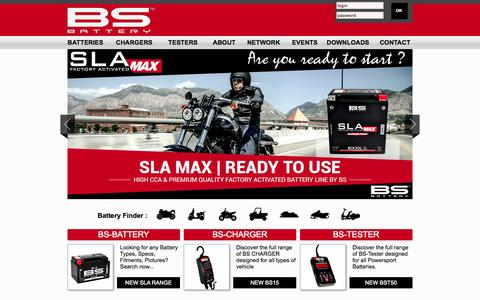 Screenshot of Home Page bs-battery.com - BS-Battery - captured Jan. 27, 2015