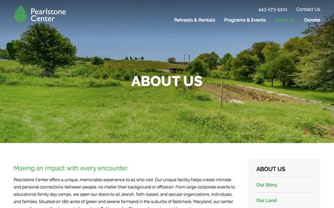 Screenshot of About Page pearlstonecenter.org - About Pearlstone - Jewish Retreat Center & Outdoor Education Campus   Pearlstone Center - captured July 16, 2018