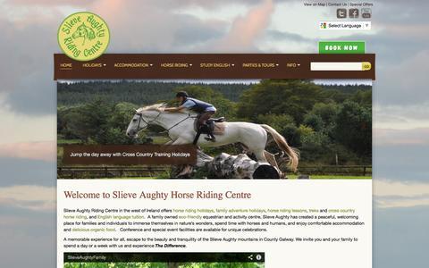 Screenshot of Home Page riding-centre.com - Horse Riding, Horseback Riding, Riding Holidays, Equestrian Centre | Slieve Aughty Horse Riding Centre - captured Oct. 8, 2014