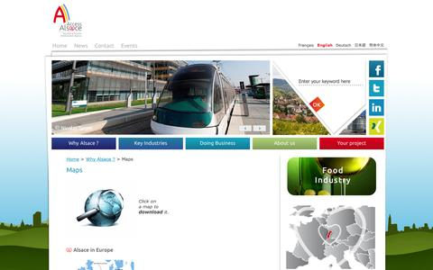 Screenshot of Maps & Directions Page alsace.com - Maps | Invest in AlsaceInvest in Alsace - captured Oct. 4, 2014
