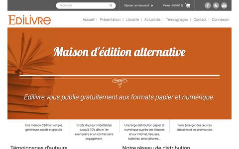 Screenshot of Home Page edilivre.com - L'actualité Edilivre - Retrouvez toute l'actualité Edilivre : Salons, Interview, Evenements - captured July 16, 2018
