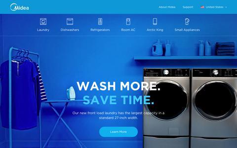 Screenshot of midea.com - Midea - comprehensive ranges in the home appliance industry - captured Sept. 22, 2019