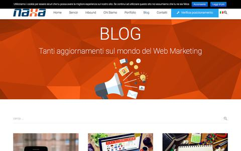 Screenshot of Blog naxa.ws - Blog promozione sito web | NAXA - captured Sept. 20, 2018
