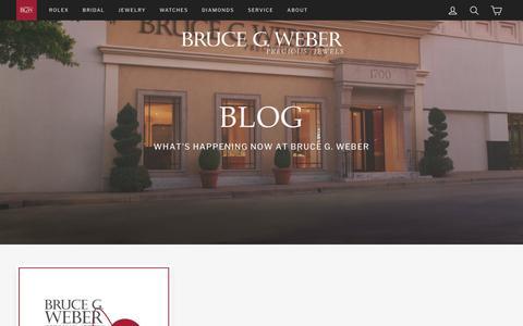 Screenshot of Press Page brucegweber.com - Blog – Bruce G. Weber - captured Nov. 13, 2018