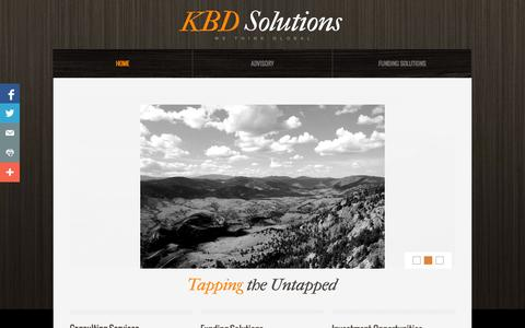 Screenshot of Home Page kbdsolutions.com - KBD Solutions - Start-up Advisory Consultant - captured Sept. 30, 2014