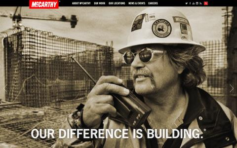 Screenshot of Home Page mccarthy.com - Commercial Construction Companies   McCarthy Building Companies, Inc. - captured Sept. 19, 2014