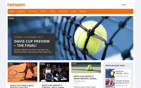Screenshot of Blog betsson.com - Betting Tips and Casino News | Betsson - captured Nov. 14, 2019