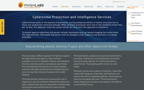 Screenshot of Services Page phishlabs.com - Services – PhishLabs - captured Sept. 11, 2014