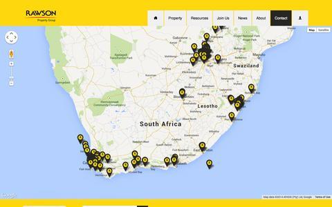 Screenshot of Contact Page rawson.co.za - Contact Us - Rawson Property Group - captured Sept. 22, 2014