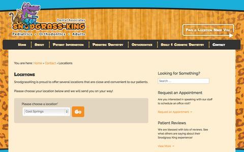 Screenshot of Locations Page snodgrassking.com - Locations - Snodgrass King - captured Oct. 26, 2014