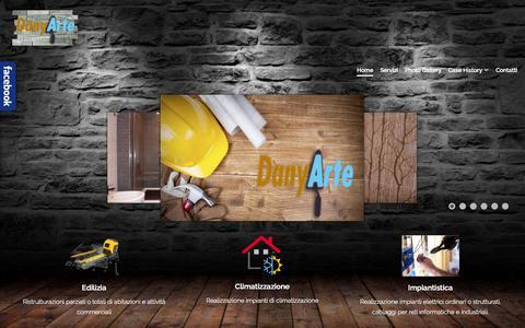 Screenshot of Home Page danyarte.it - DanyArte, ristrutturazioni parziali e totali - captured Oct. 13, 2015