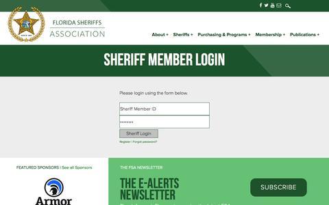 Screenshot of Login Page flsheriffs.org - The Florida Sheriffs Association - captured Nov. 25, 2016