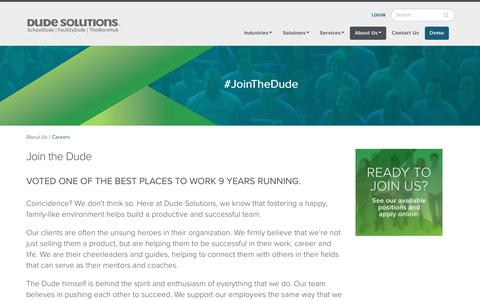 Careers - Join the Dude | Dude Solutions