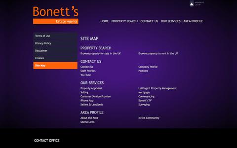 Screenshot of Site Map Page bonetts.co.uk - Bonett's Estate Agents - Property For Sale and Rent in Brighton. - captured Oct. 5, 2014