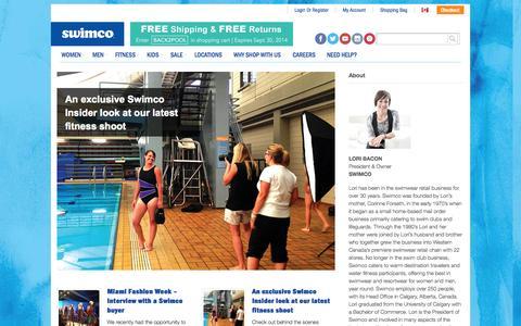 Screenshot of Blog swimco.com - Feel Good Half Naked Blog   Swimco - captured Sept. 19, 2014